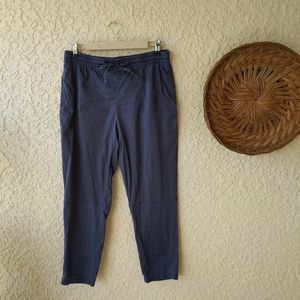 Lou& gray relax fit pants cropped